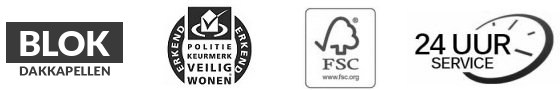 logos blok dakkapellen