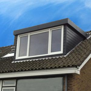 dakkapel eindhoven blauw plat dak kunststof 3 meter