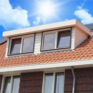 dakkapel eindhoven plat dak wit