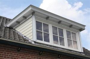 dakkapel met plat dak hout