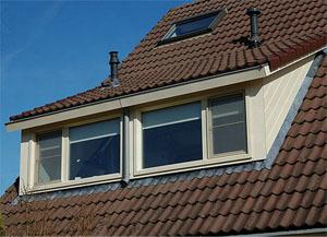 dakkapel schuindak 3 meter met dakraam